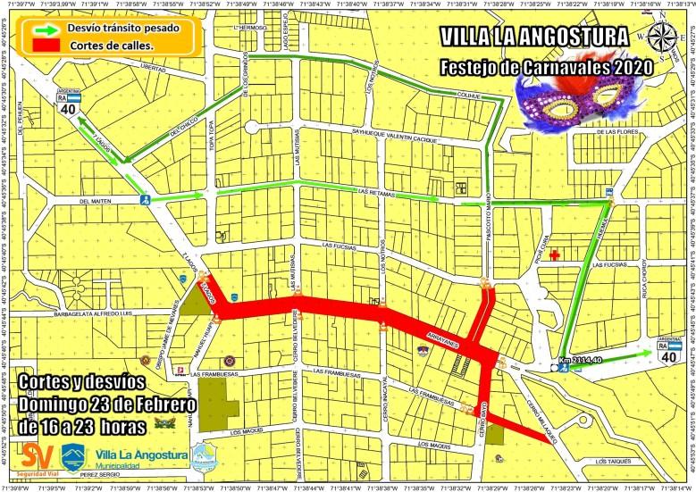 Cortes carnaval 2020 Domingo 23