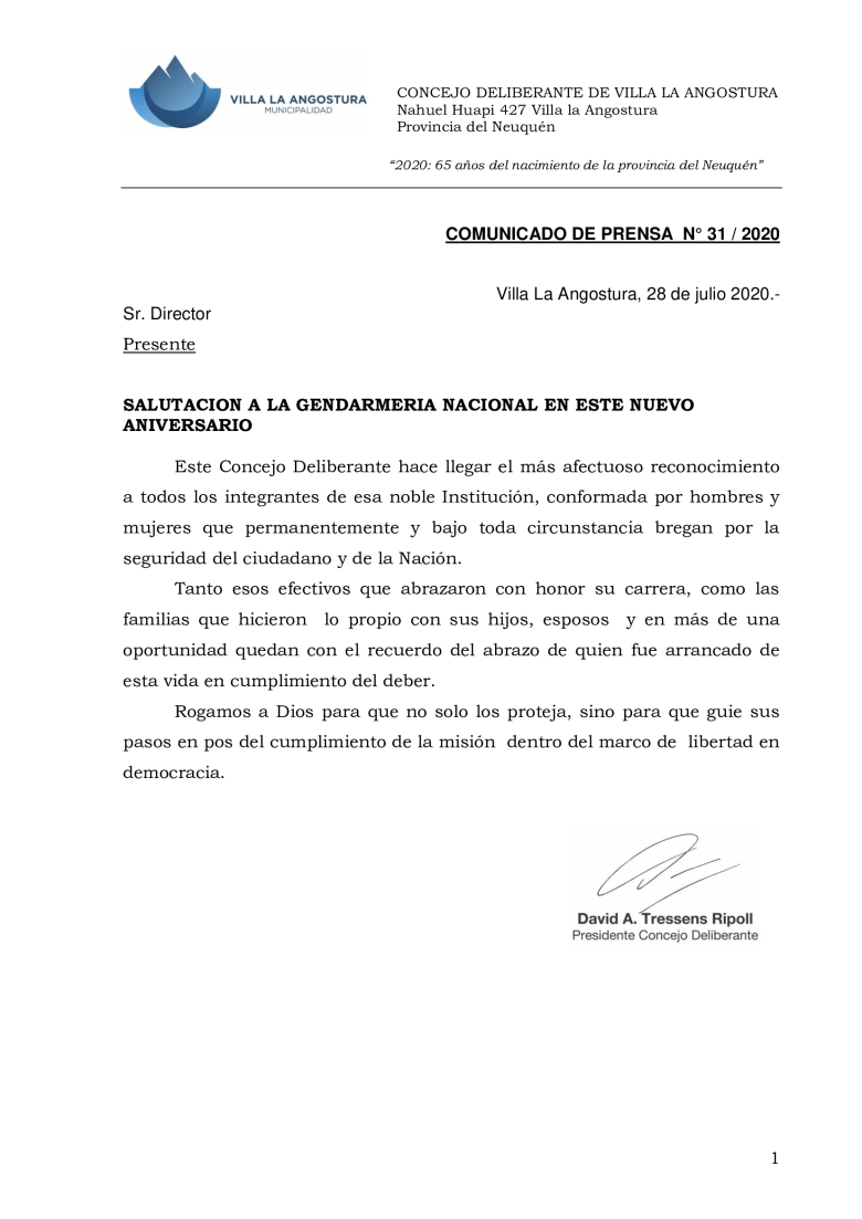 COMUNICADO-DE-PRENSA-N°-31.-Salutacion-Gendarmeria